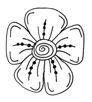 nice easy drawing drawings flowers getdrawings