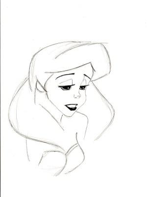easy drawings sad pencil simple nice drawing ariel sketch google sketches getdrawings deviantart angel disney princess couple gemerkt salvo von