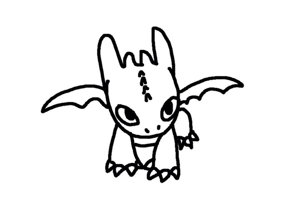 Baby Toothless Drawing At Getdrawings Com