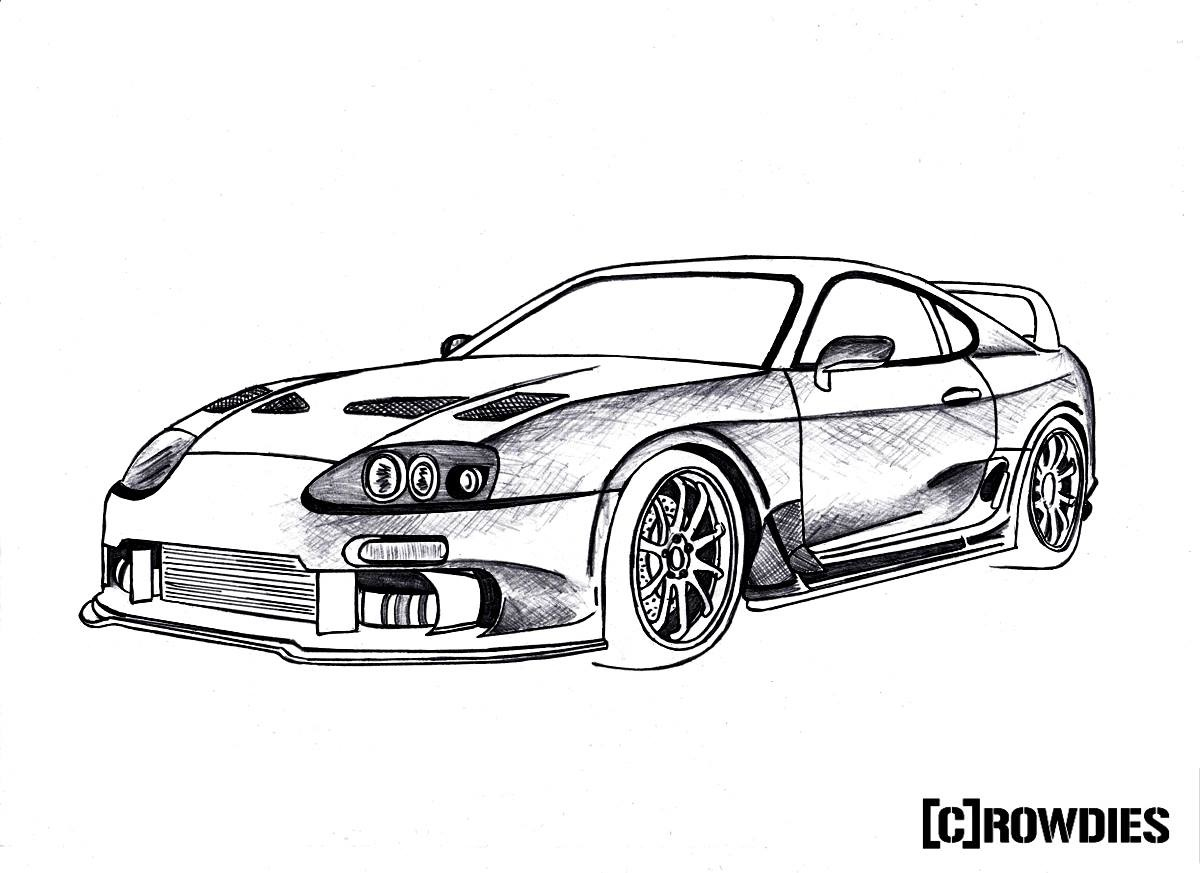 Nissan Gtr Drawing At Getdrawings