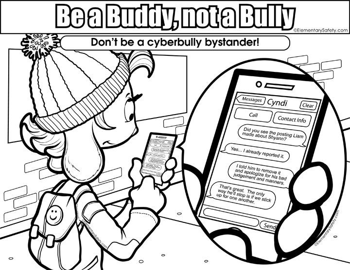 Anti Bullying Pages Printable Coloring Pages