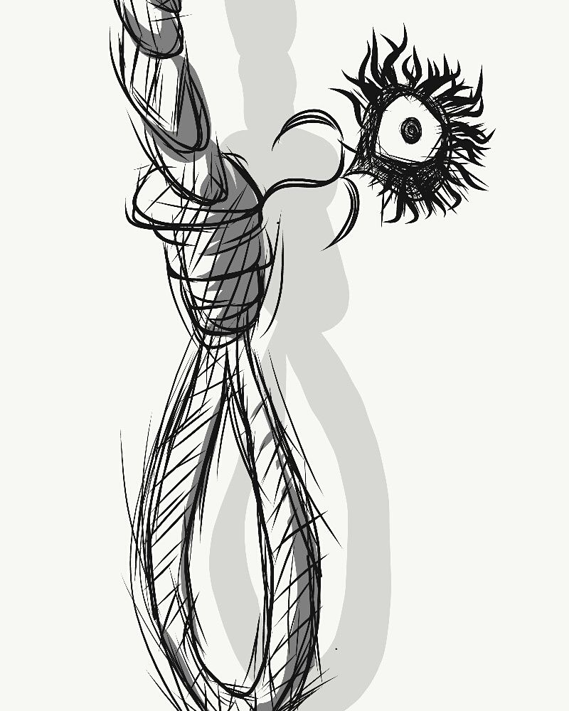 hight resolution of 800x1000 rough noose sketch the flower of evil i redd it submitted