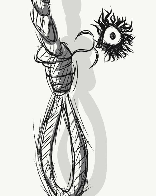small resolution of 800x1000 rough noose sketch the flower of evil i redd it submitted