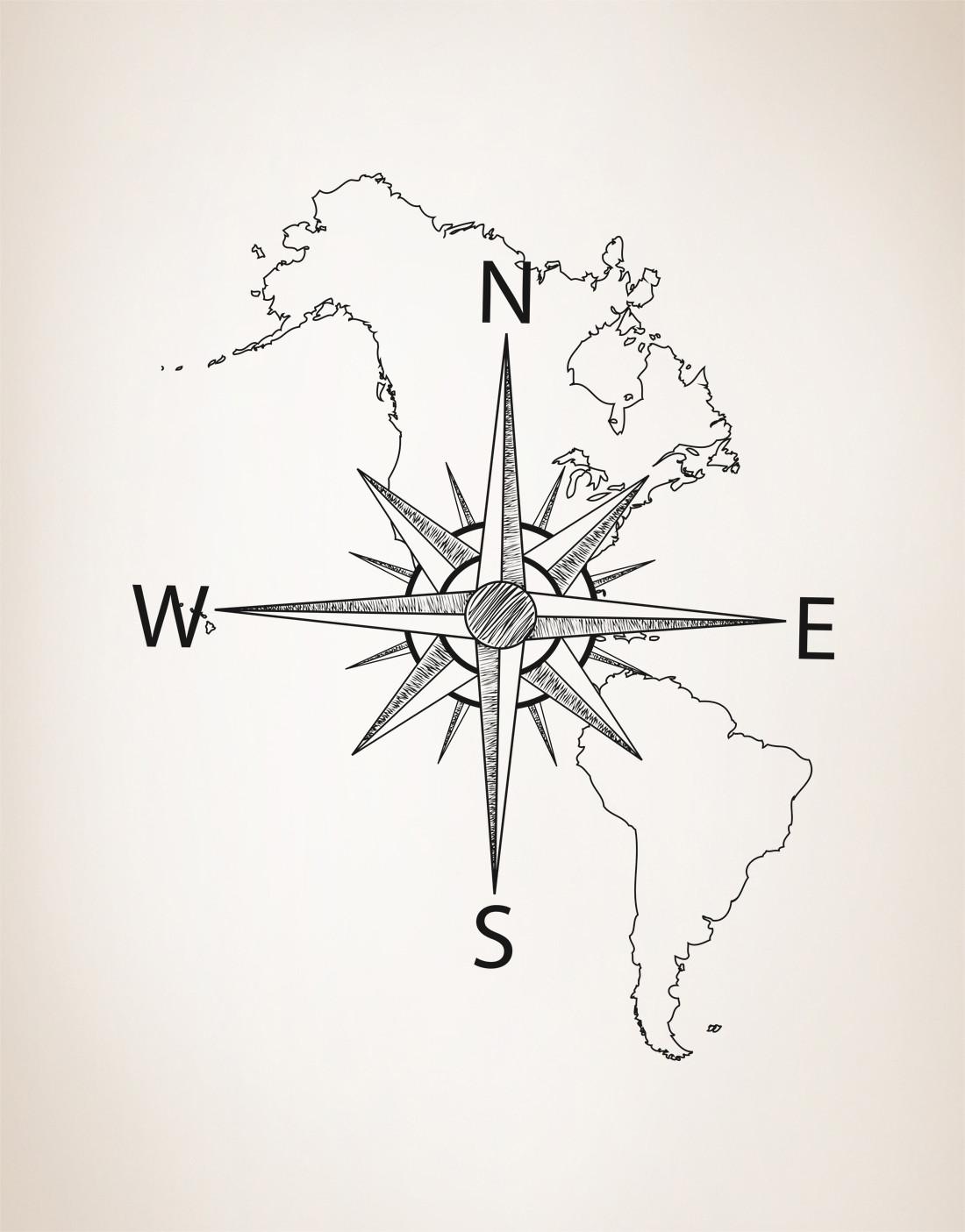 North America Drawing At Getdrawings