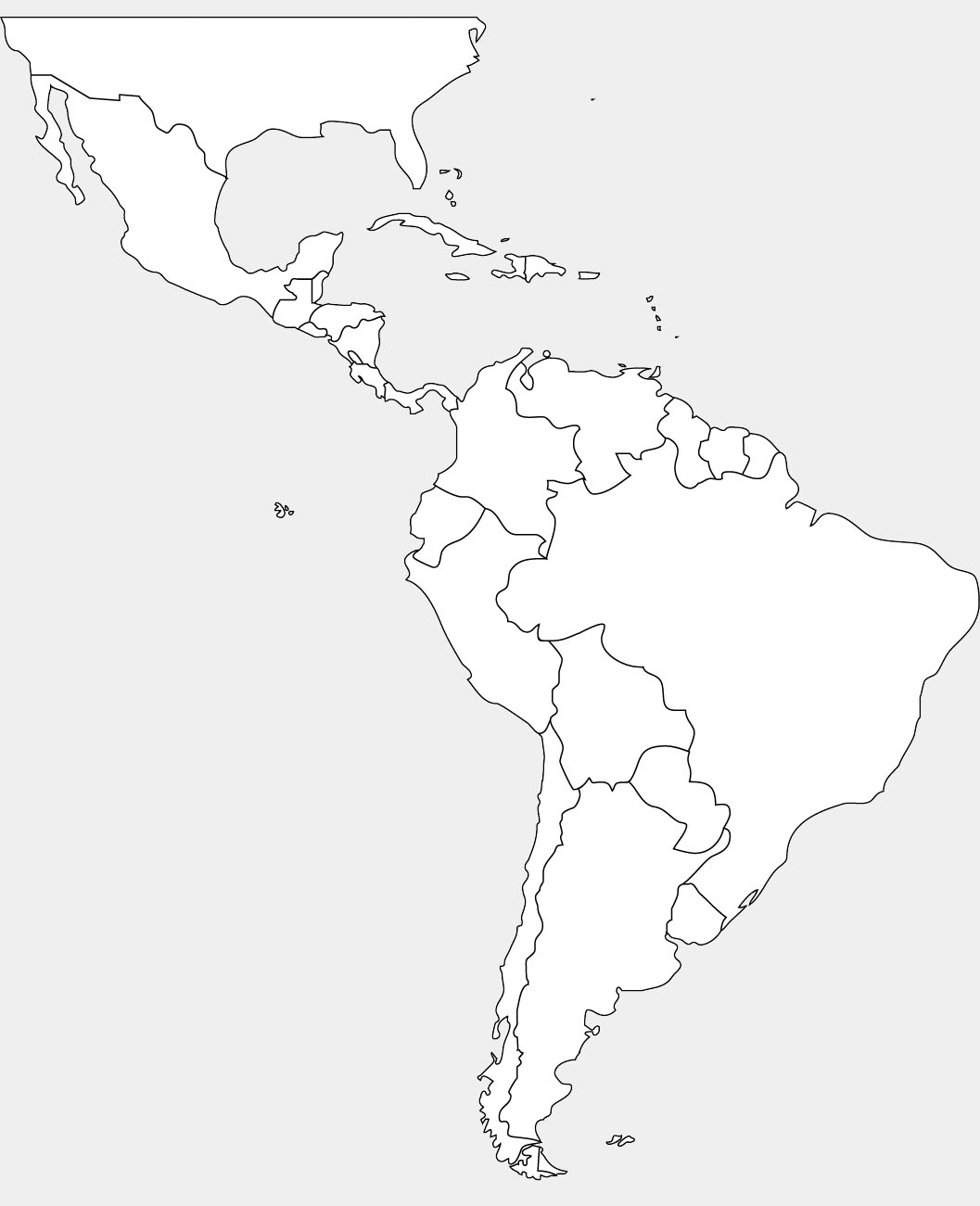 North America Map Drawing At Getdrawings