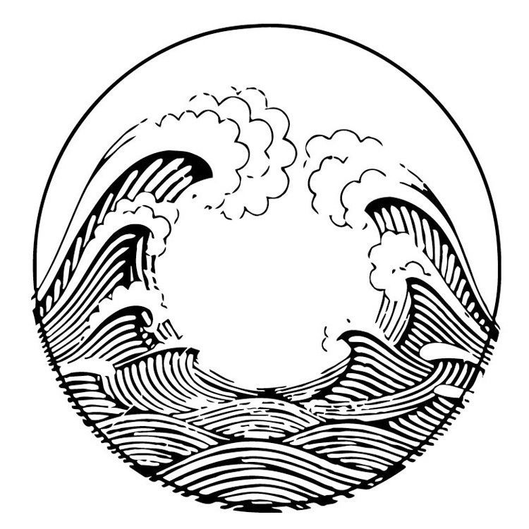 Ocean Wave Drawing At Getdrawings Com
