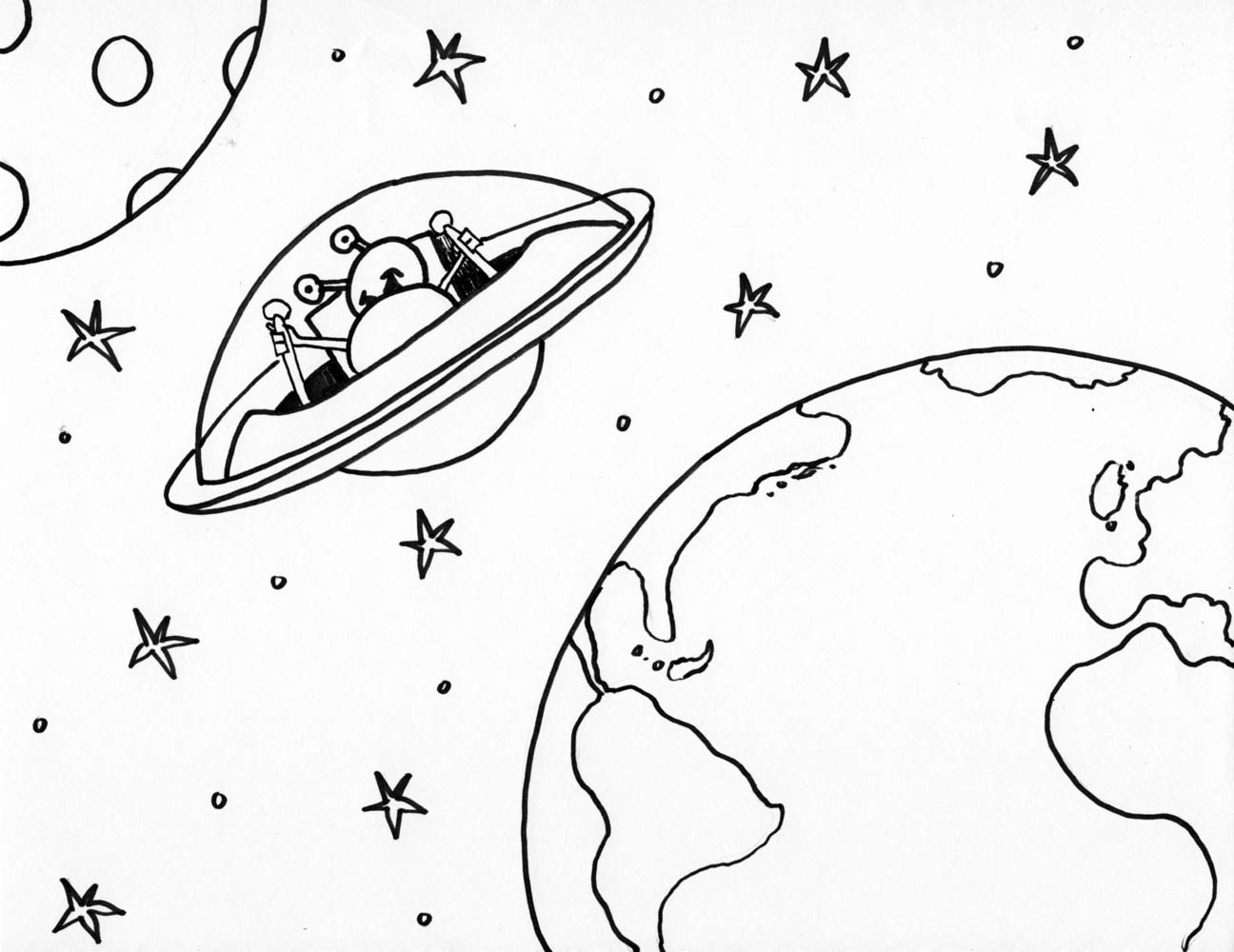 Outer Space Drawing At Getdrawings