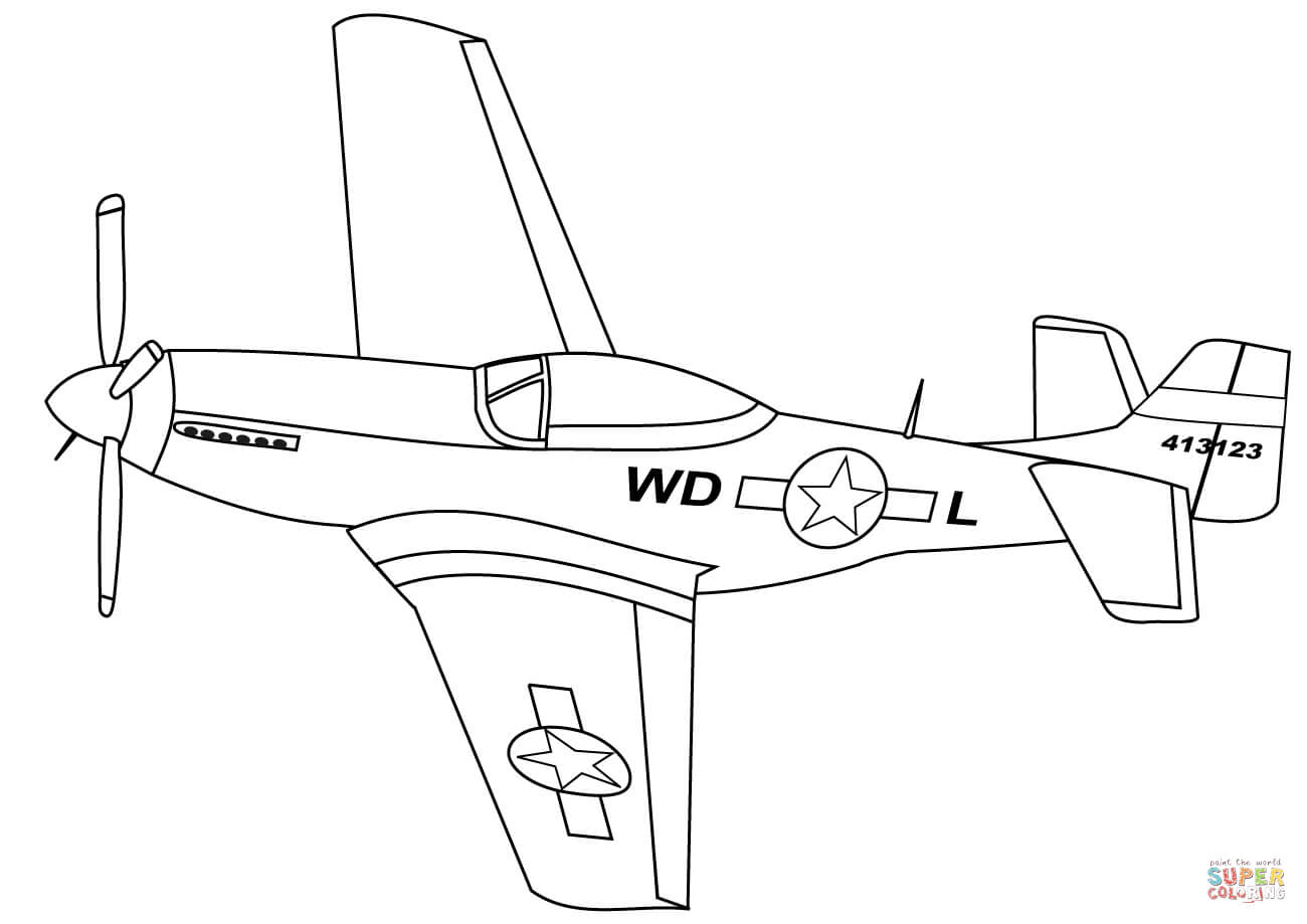 P51 Mustang Drawing At Getdrawings