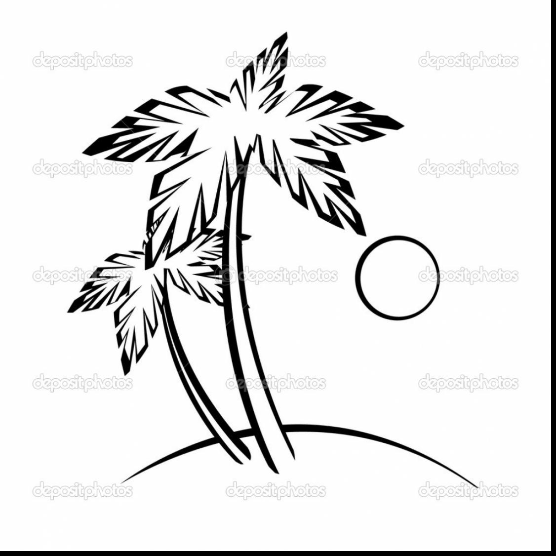 Palm Leaves Drawing At Getdrawings
