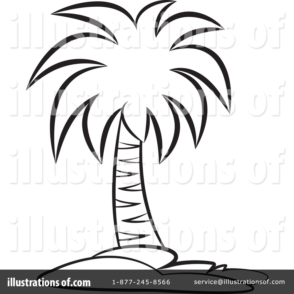 Palm Tree Sunset Drawing At Getdrawings