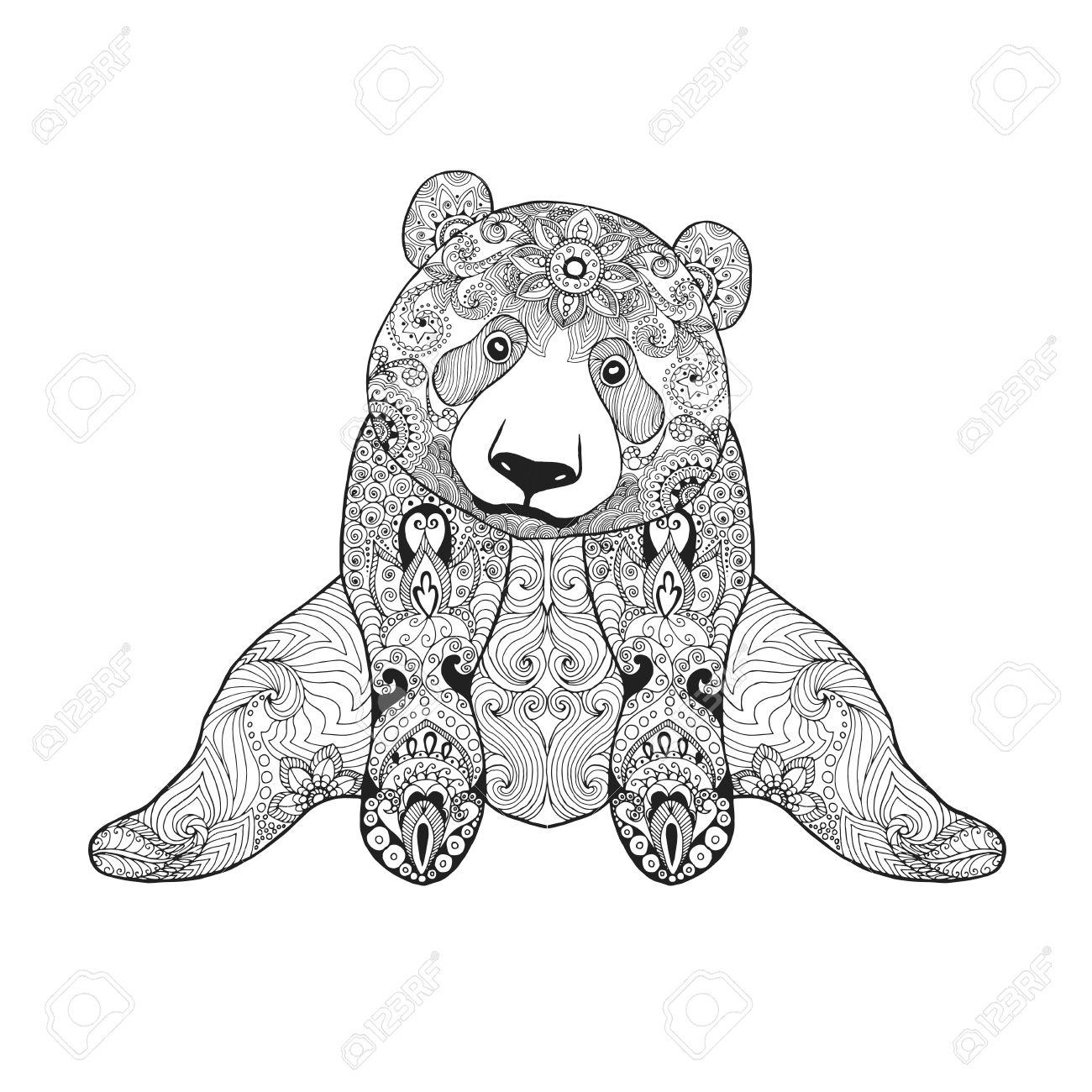 Panda Bear Drawing At Getdrawings