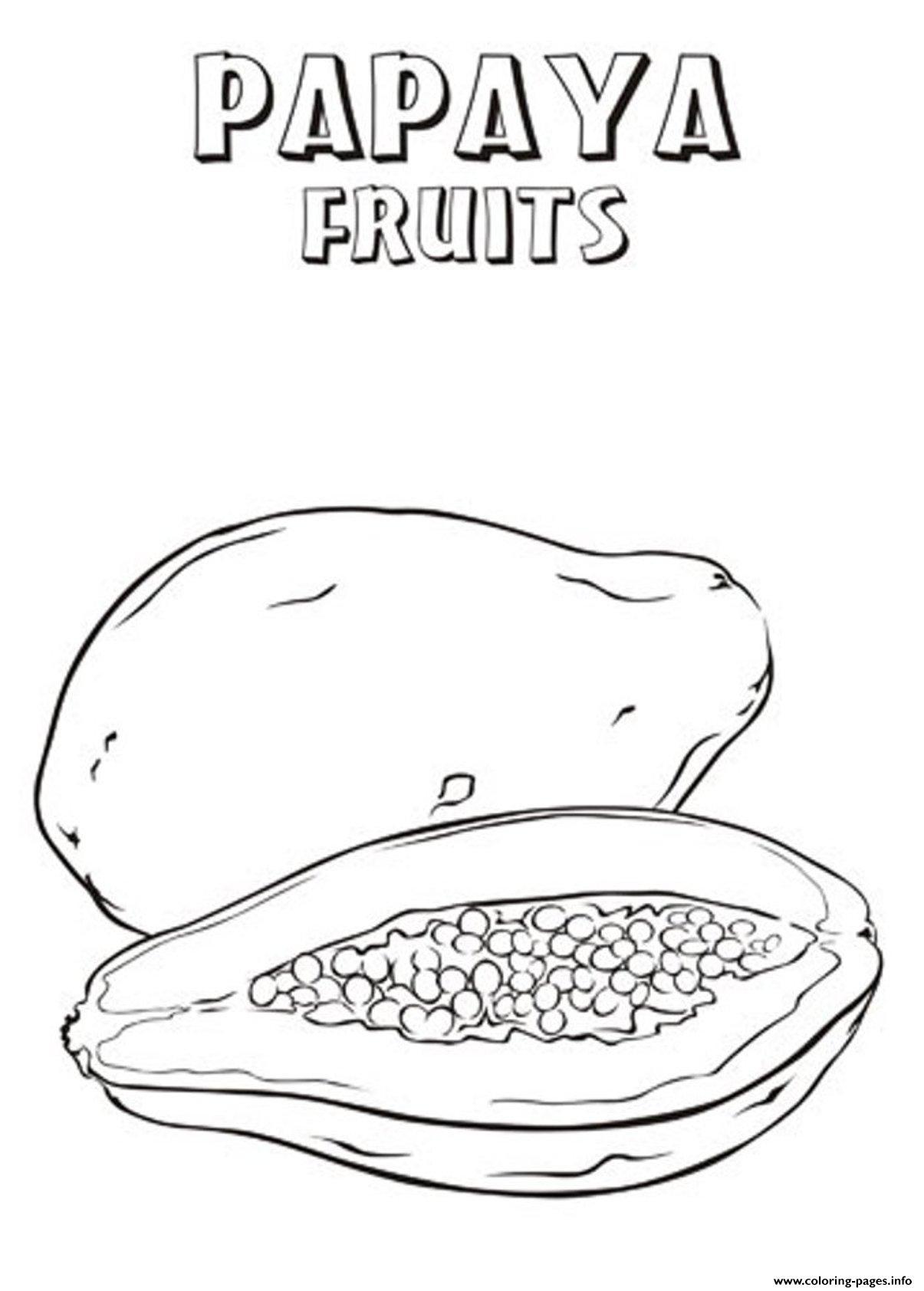 Papaya Drawing At Getdrawings