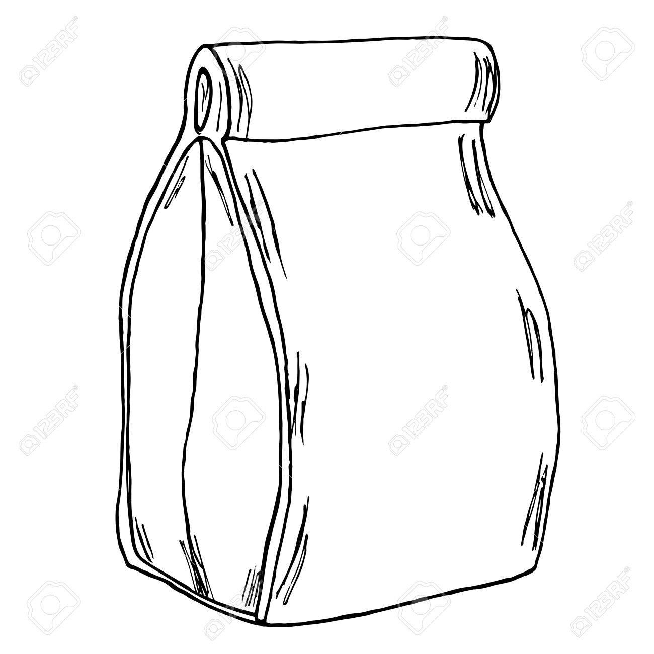 Paper Bag Drawing At Getdrawings