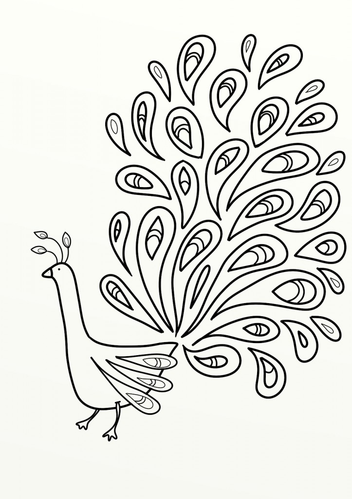 Peacock Drawing Designs At Getdrawings Com