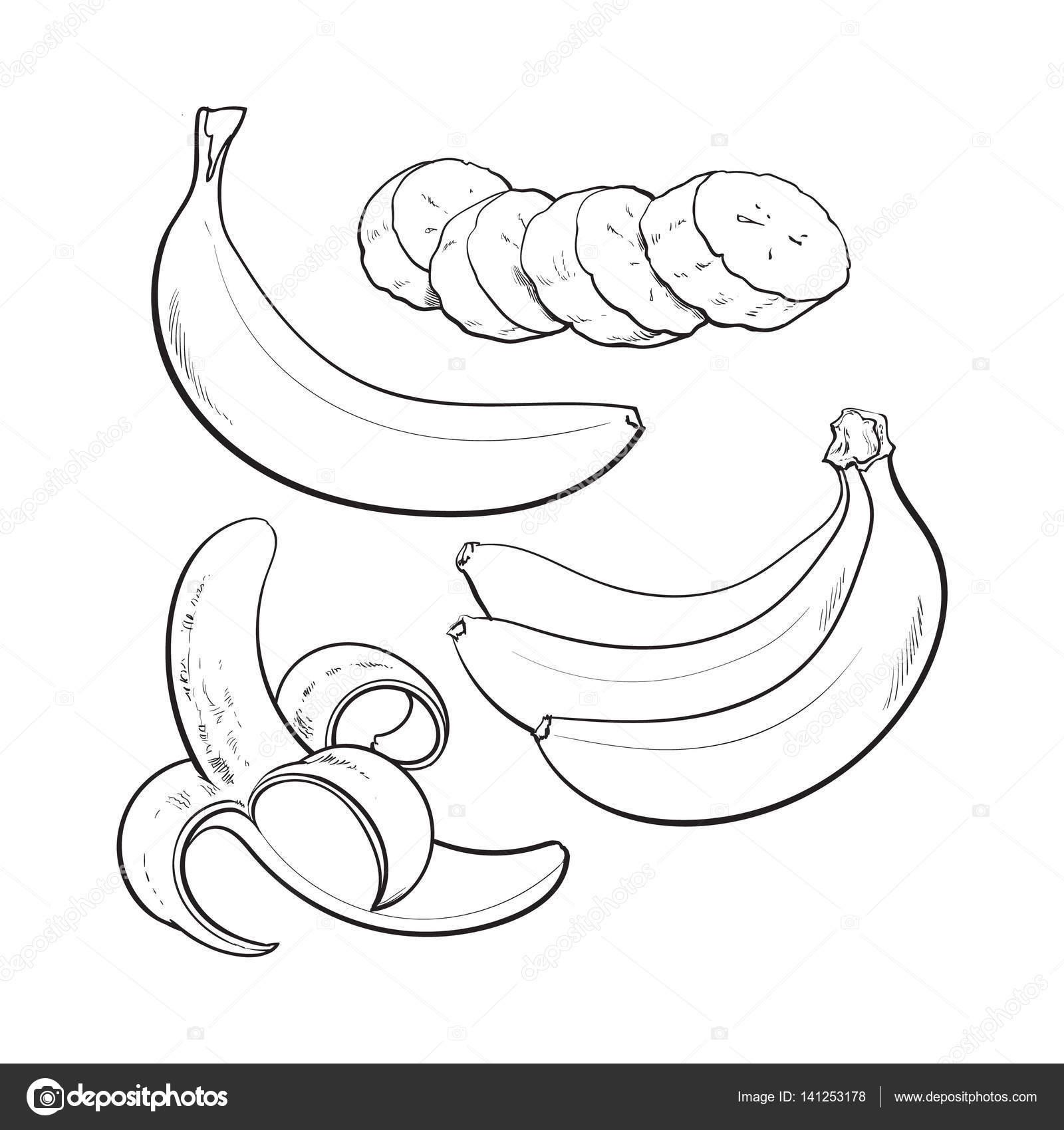 Peeled Banana Drawing At Getdrawings