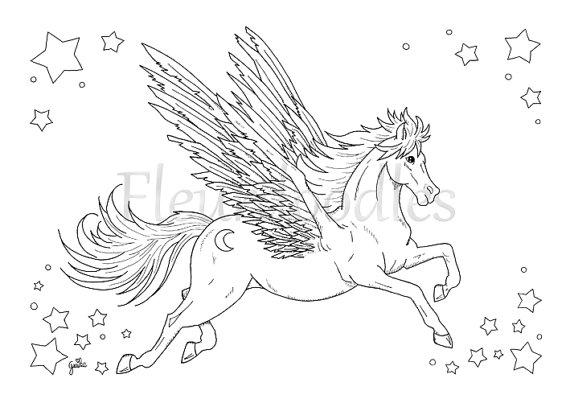 31 Pegasus Zum Ausmalen - Besten Bilder von ausmalbilder