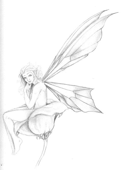 Girl With Wings Drawing At Getdrawings Com