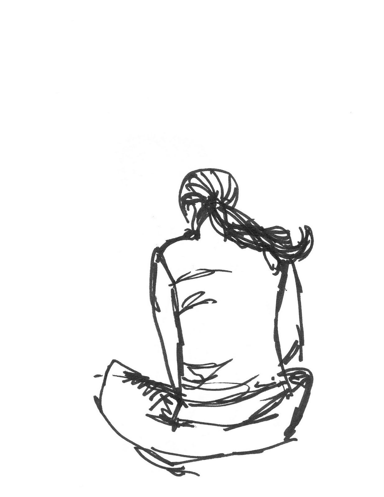 Person Sitting Drawing At Getdrawings