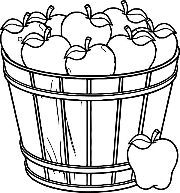 picnic basket drawing