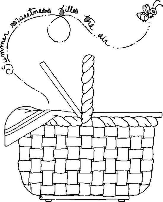 How To Draw People Girl With A Picnic Basket