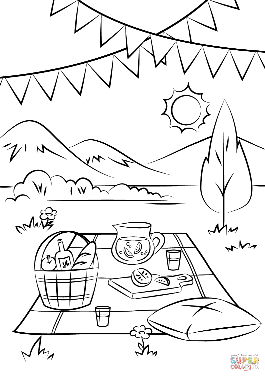 Picnic Drawing At Getdrawings