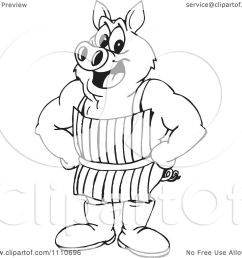1080x1024 clipart black and white butcher pig [ 1080 x 1024 Pixel ]