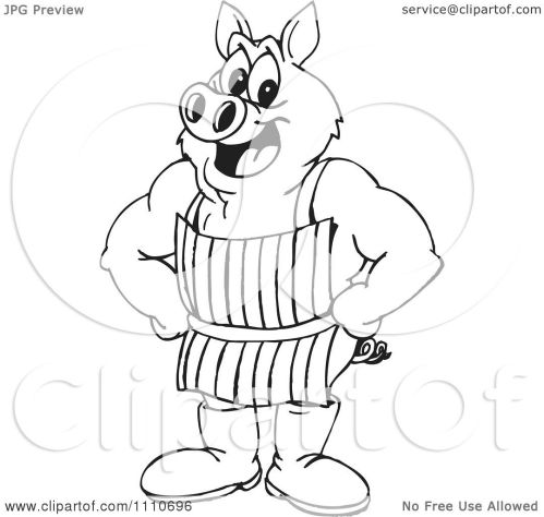 small resolution of 1080x1024 clipart black and white butcher pig
