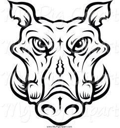 1024x1044 swine clipart of a lineart tusked boar head by vector tradition sm [ 1024 x 1044 Pixel ]