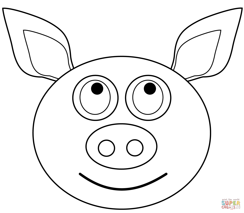 Pig Head Drawing At Getdrawings