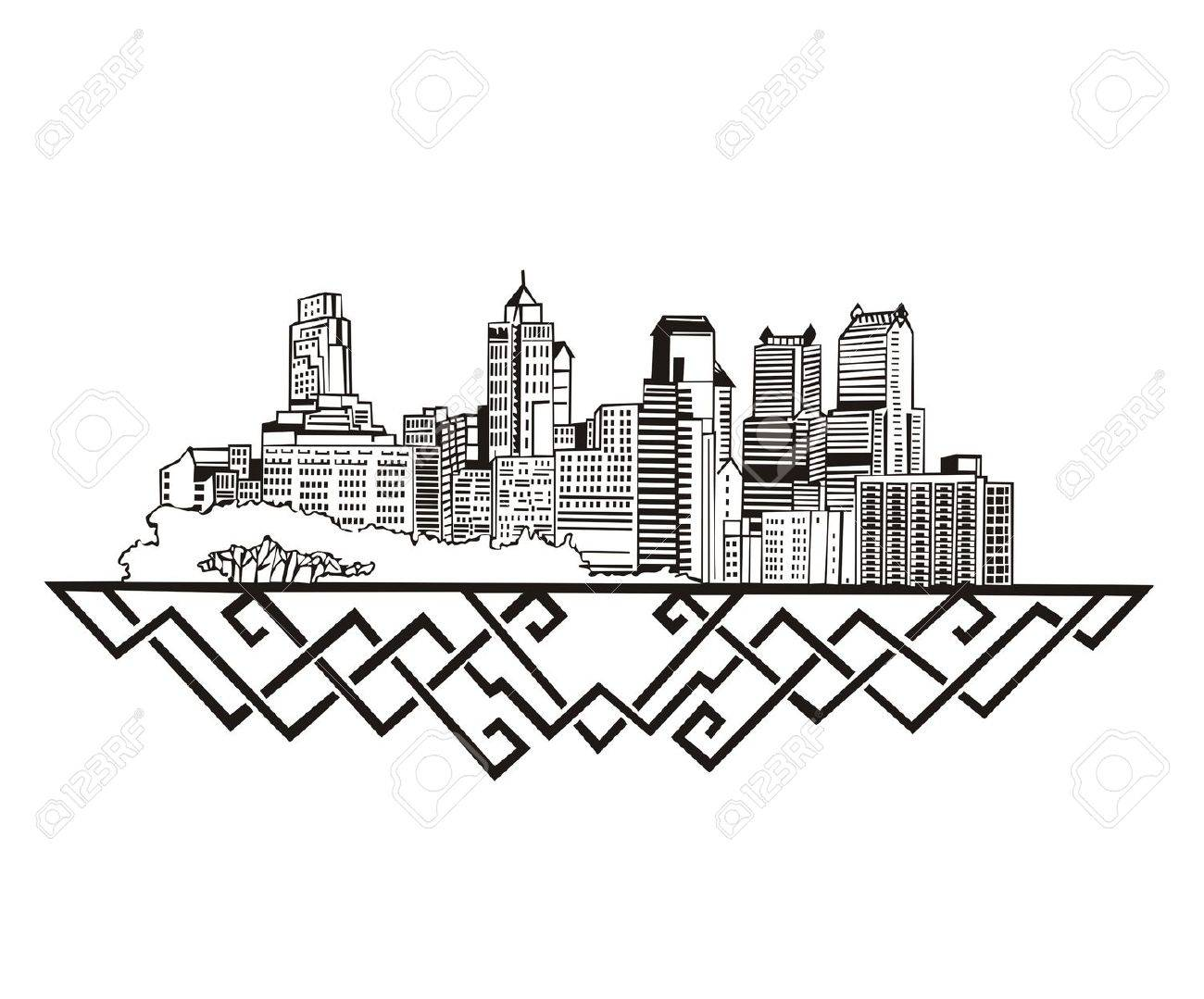 Pittsburgh Skyline Drawing At Getdrawings