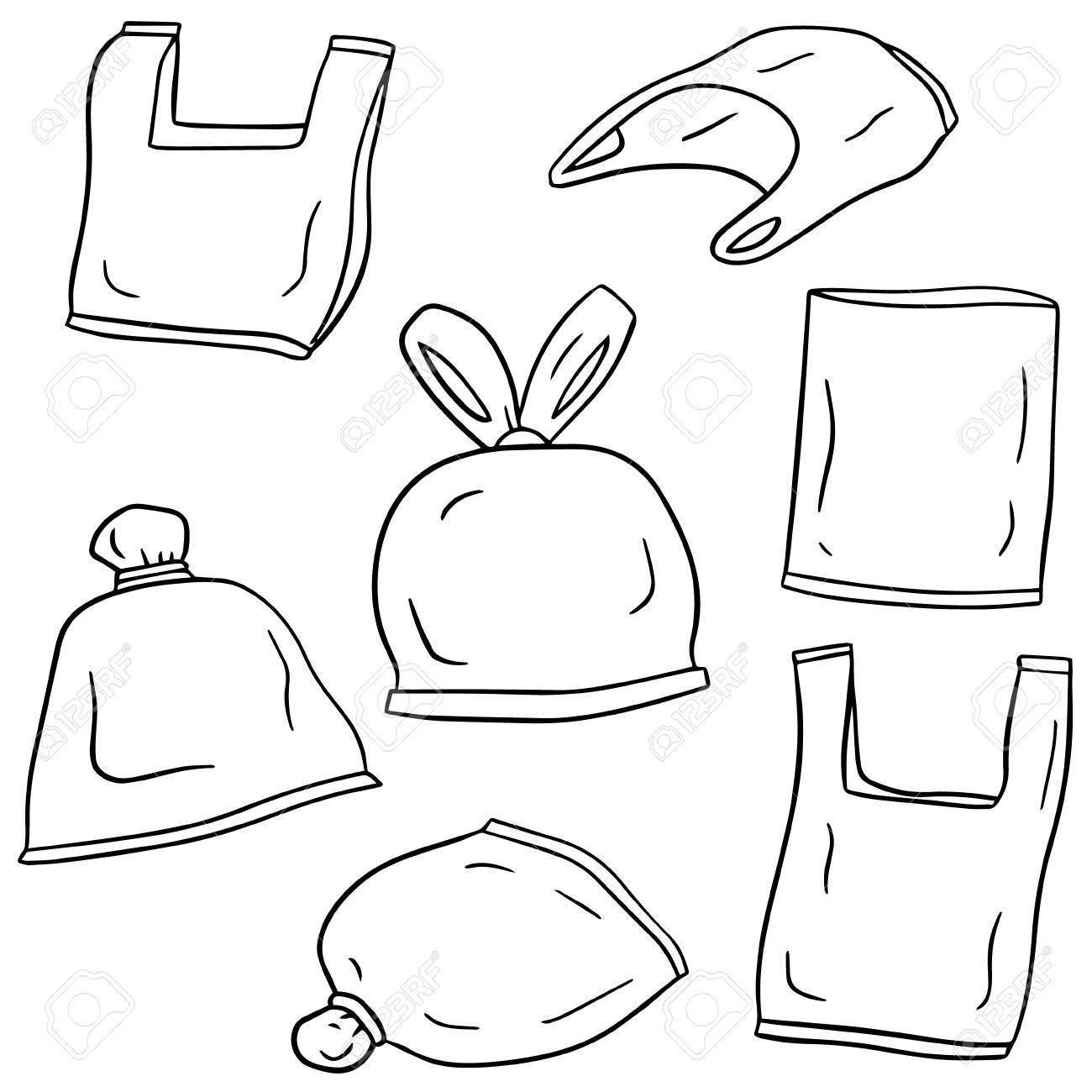 Plastic Bag Drawing At Getdrawings