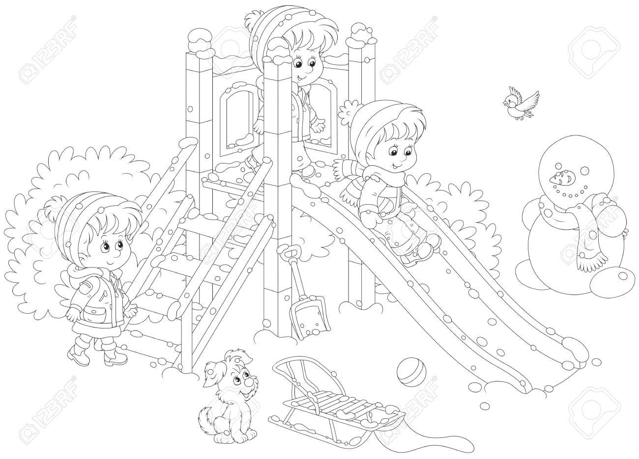 Playground Slide Drawing At Getdrawings