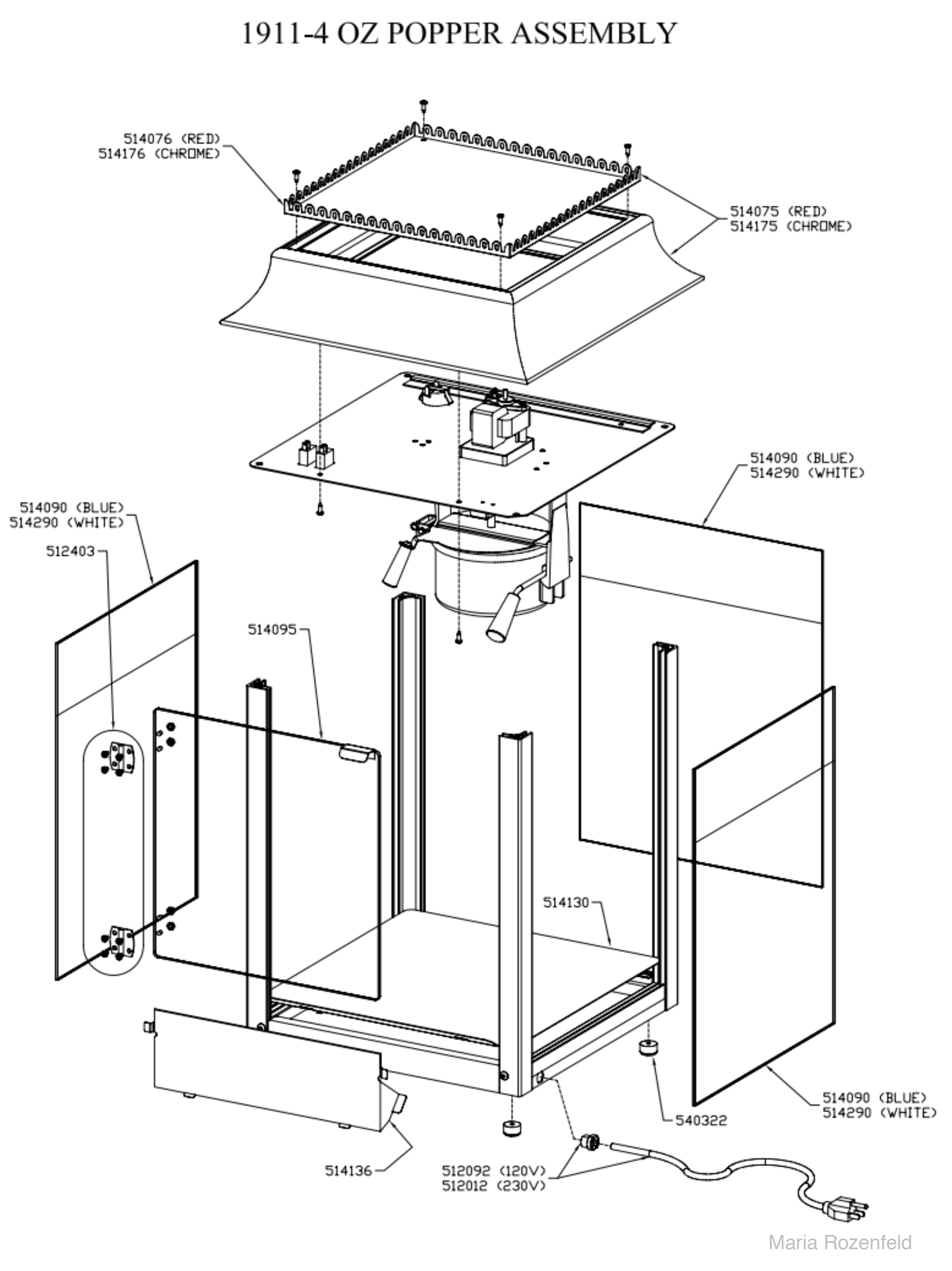 Popcorn Machine Drawing At Getdrawings