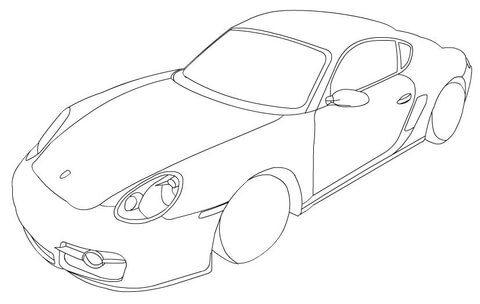 The best free Porsche drawing images. Download from 262