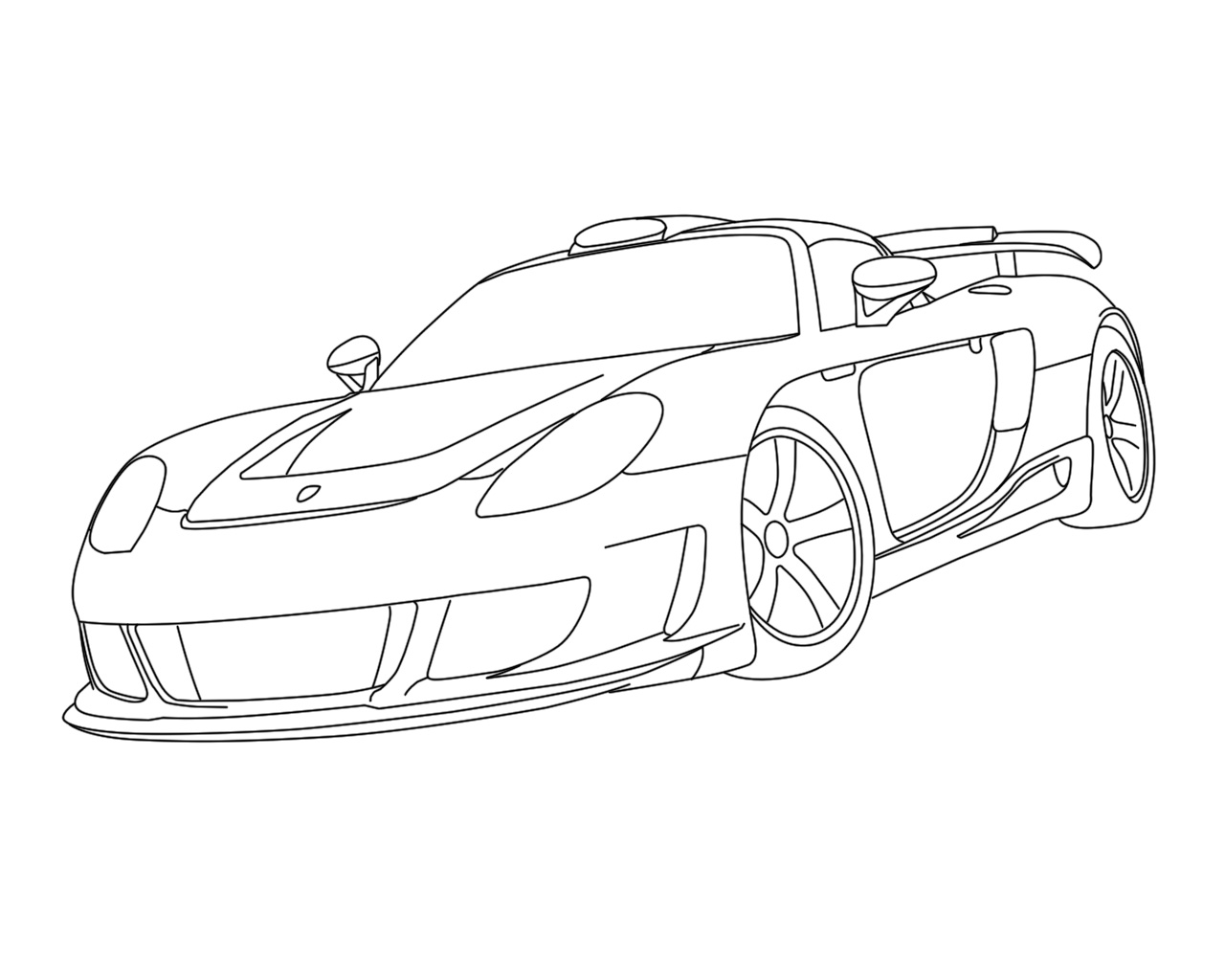 Porsche 911 Drawing At Getdrawings