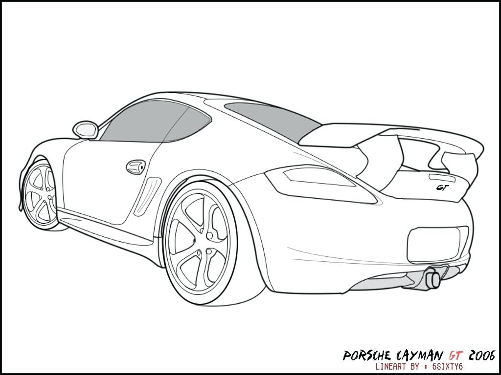 Porsche Drawing At Getdrawings