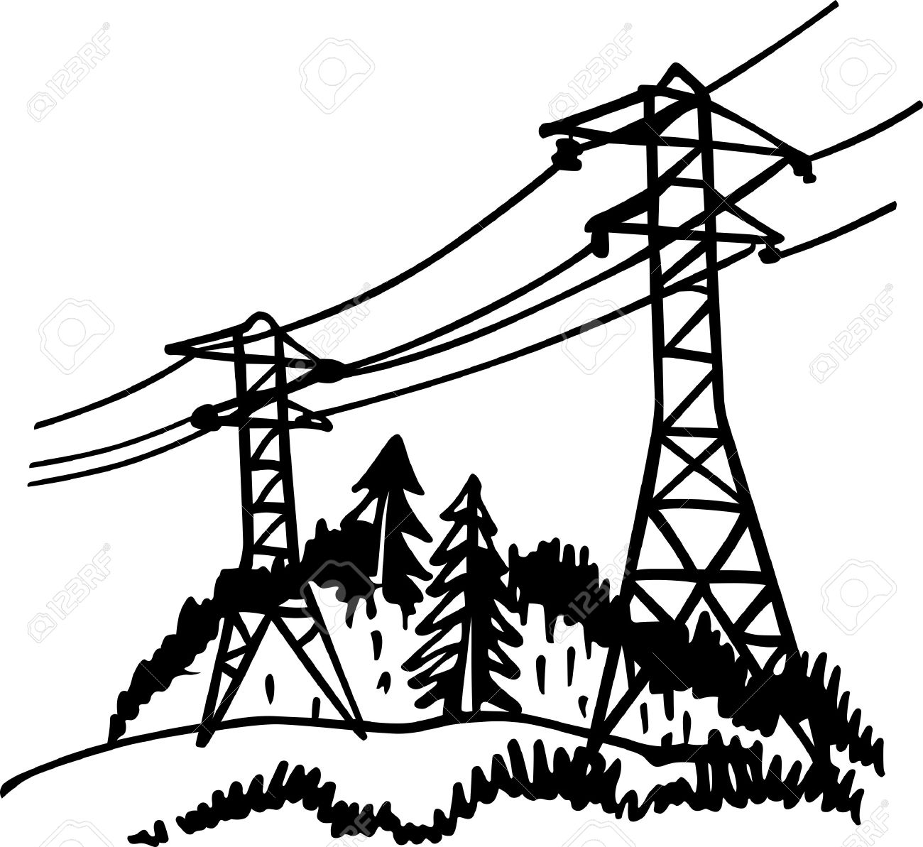 Power lines drawing at getdrawings free for personal use power
