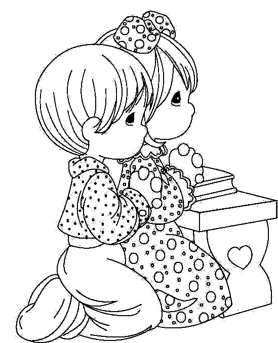 Children Praying Coloring Page Sketch Coloring Page