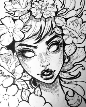 pretty drawing drawings face sketches dark sketch nice coloring inktober female skull instagram cool quick line faces pages draw weeks