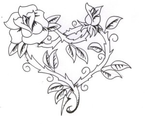 rose tattoo draw drawing tattoos raindrops simple easy coloring traditional surprise oh another flower rosa pixlar roses drawings pretty popular