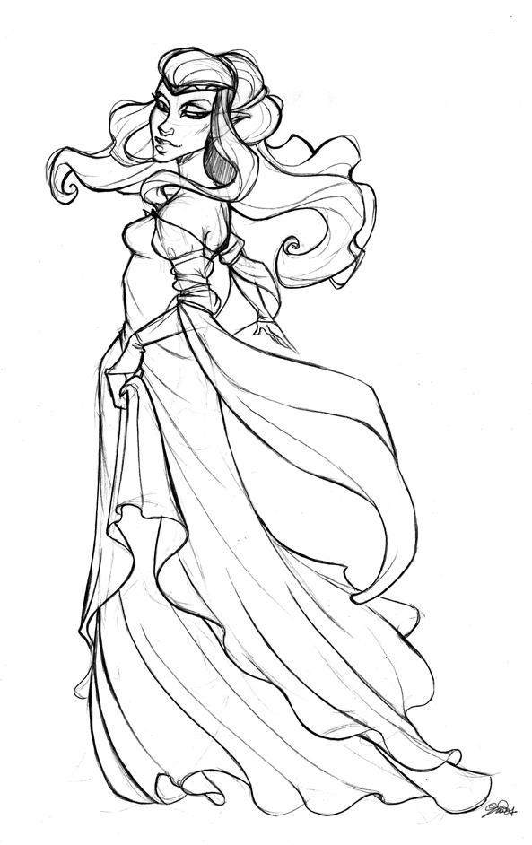 Pretty Princess Drawing At Getdrawings Com