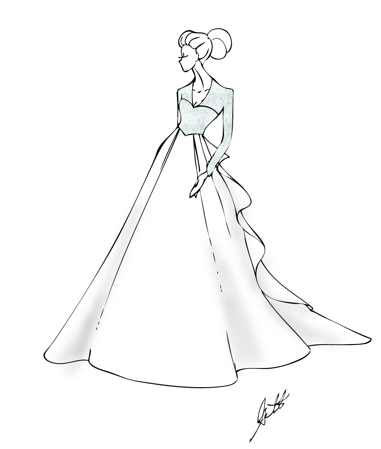 Prom Dresses Drawing At Getdrawings