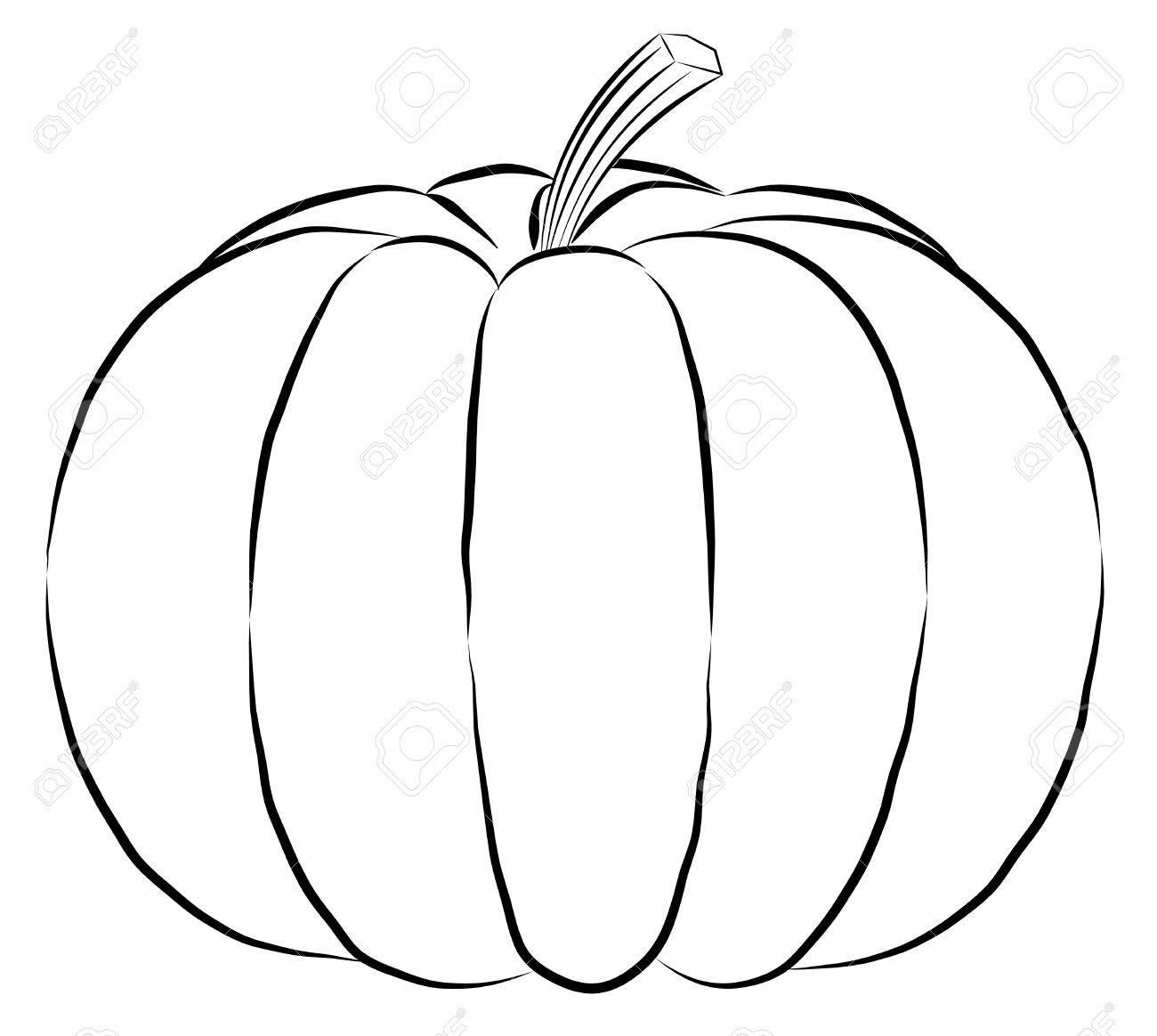 Pumpkin Drawing Outline At Getdrawings