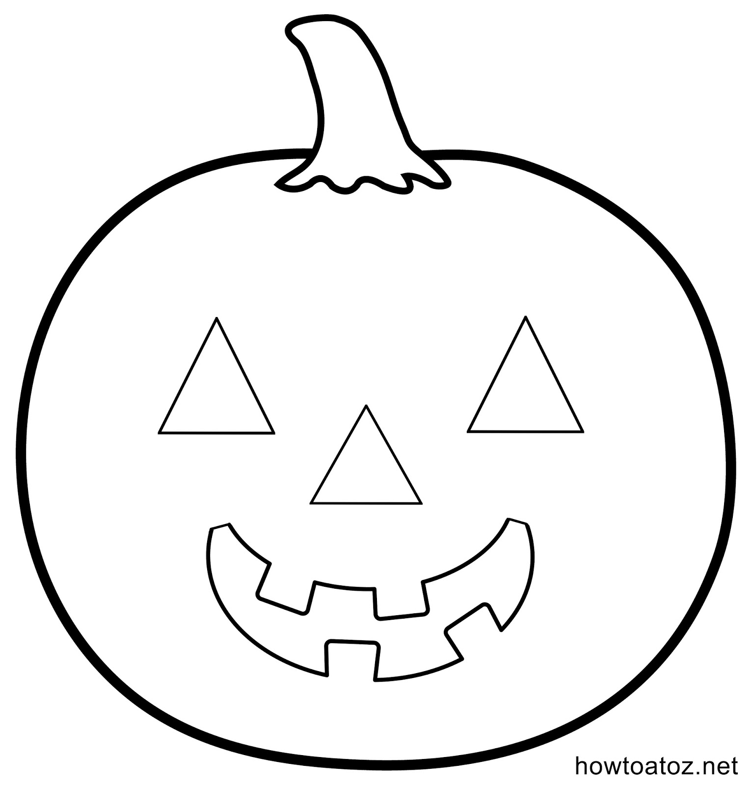 Pumpkin Drawing Template At Getdrawings