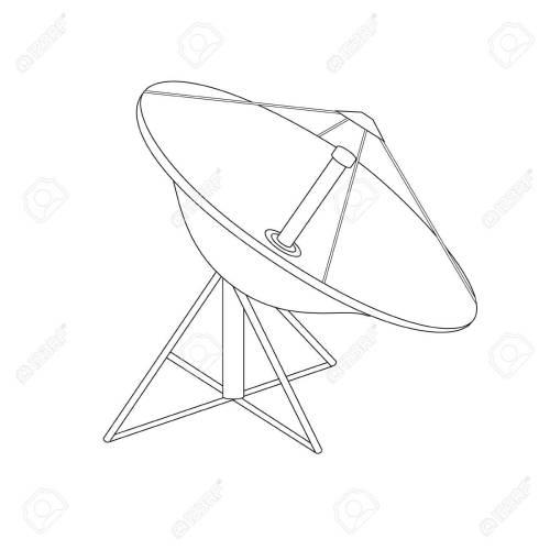 small resolution of 1300x1300 raster illustration satellite dish antenna outline drawing radar