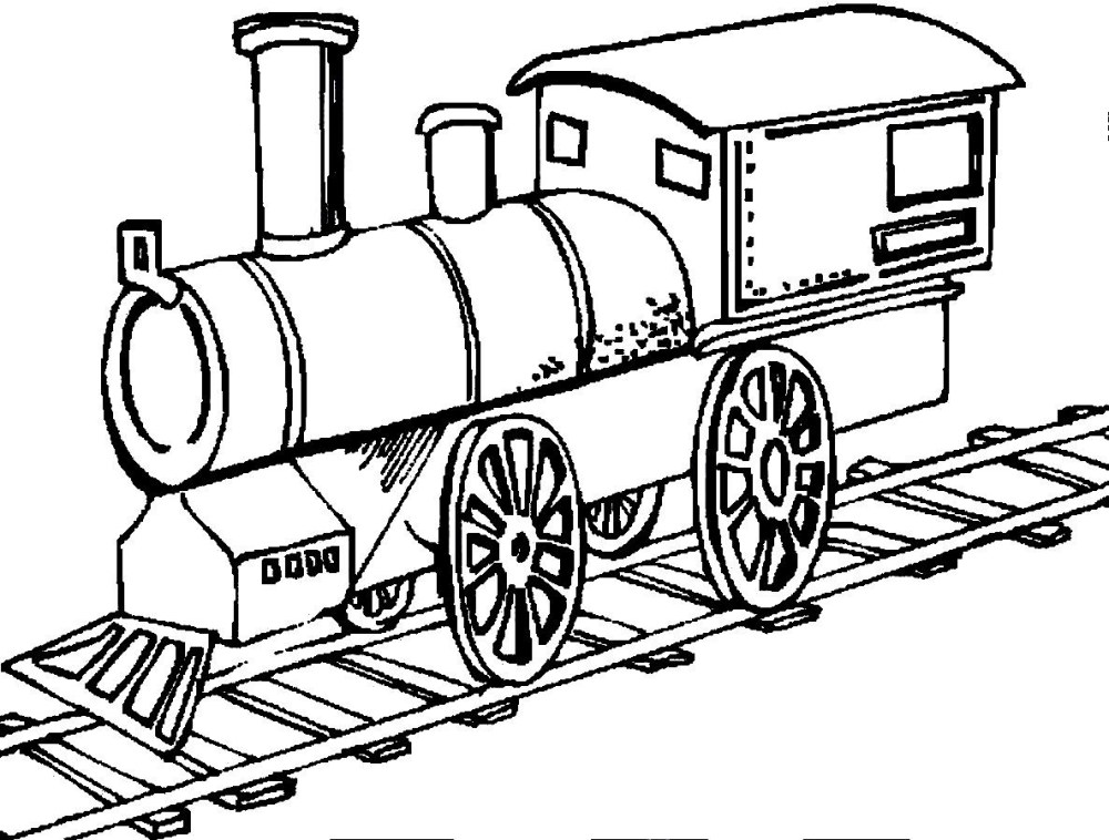 medium resolution of 1186x900 train tracks coloring pages