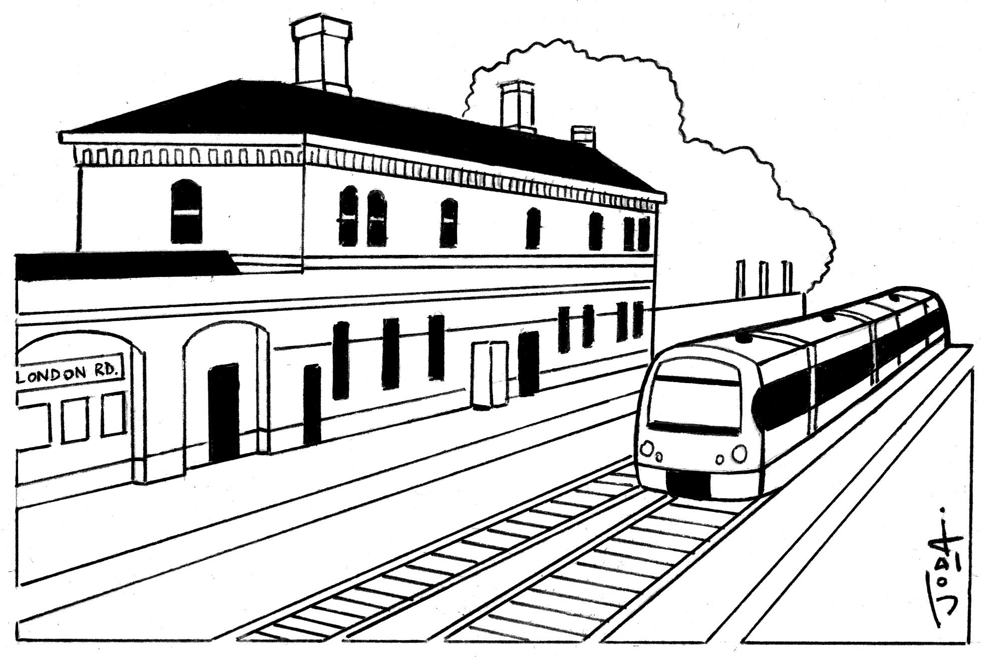 Railway Track Drawing At Getdrawings