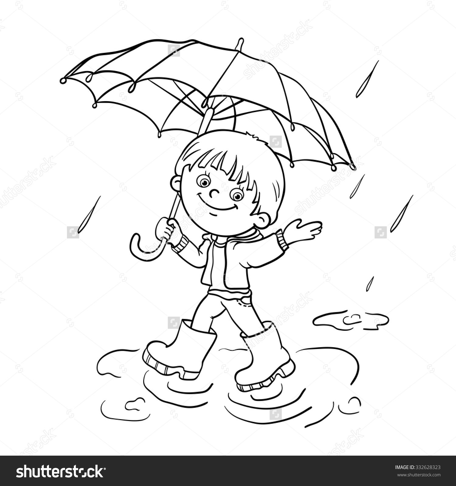Rain Umbrella Drawing At Getdrawings