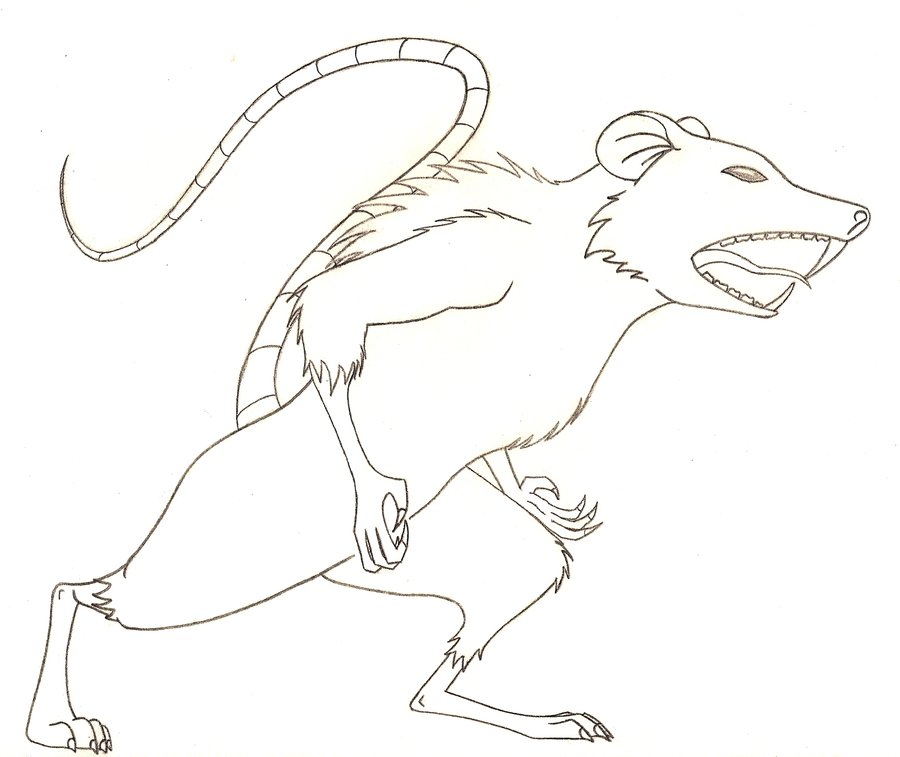Free Naked Mole Rat Coloring Page