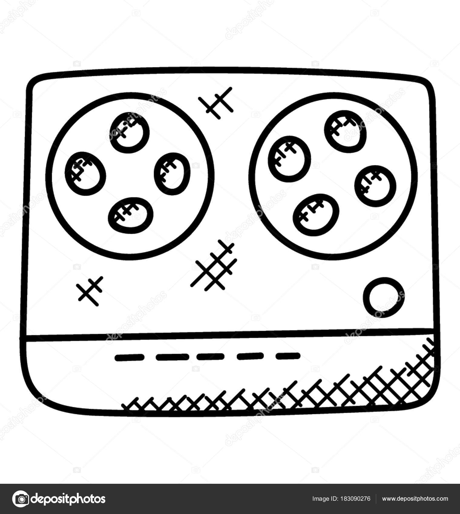 hight resolution of 1520x1700 simple hand drawn tape recorder which playing cassettes recording